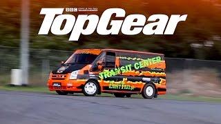 Ford Transit V8 - bokiem czy na okrągło?   TopGear Polska   Drift