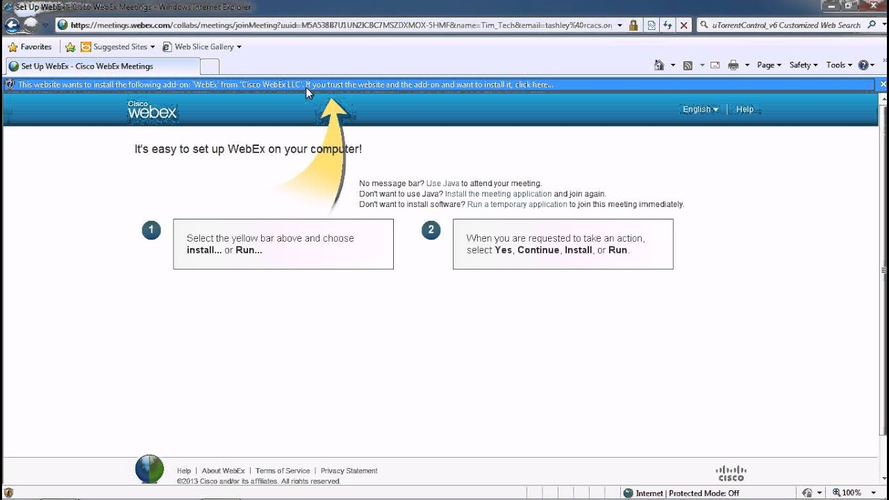 How To Accept A Webex Invitation Youtube