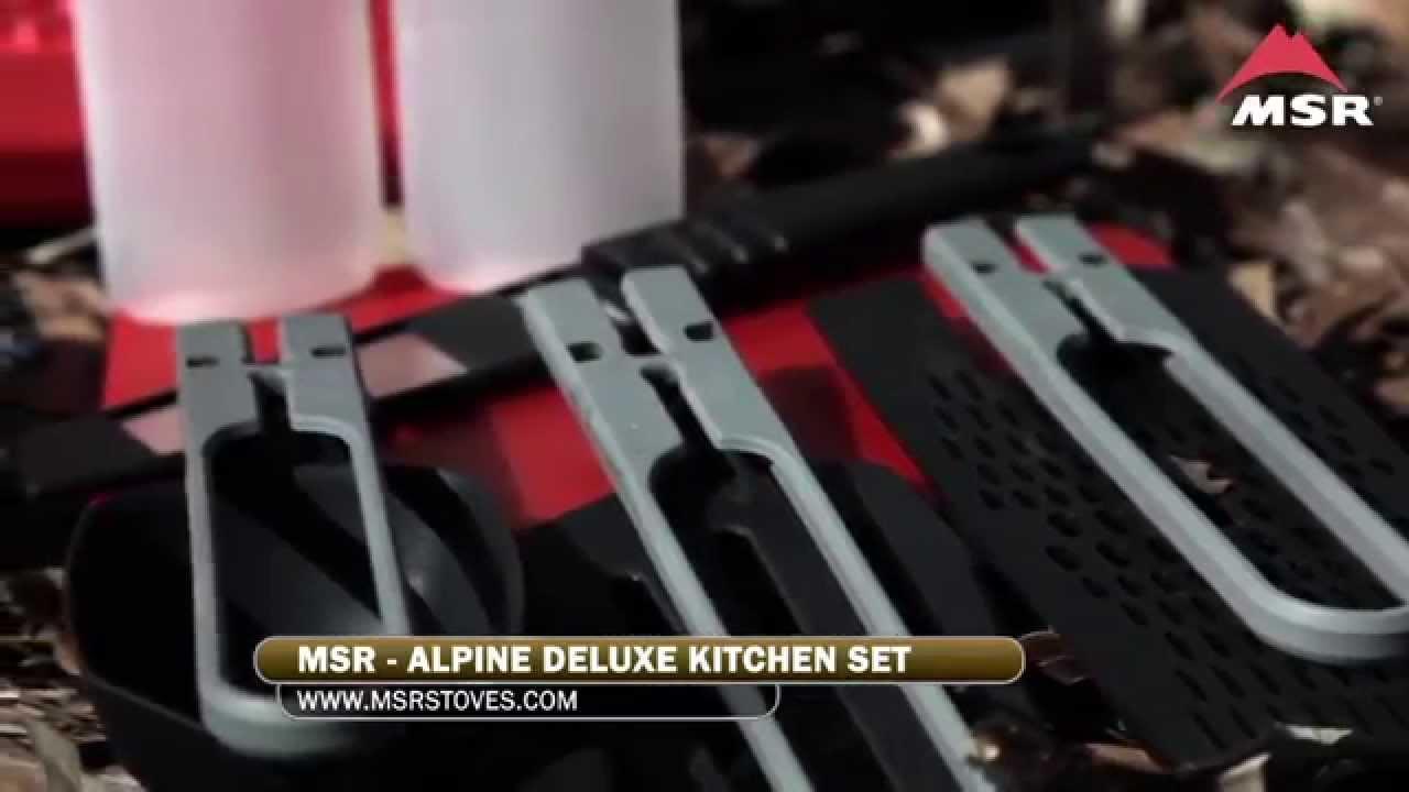 Msr Cookware Alpine Deluxe Kitchen Set Youtube