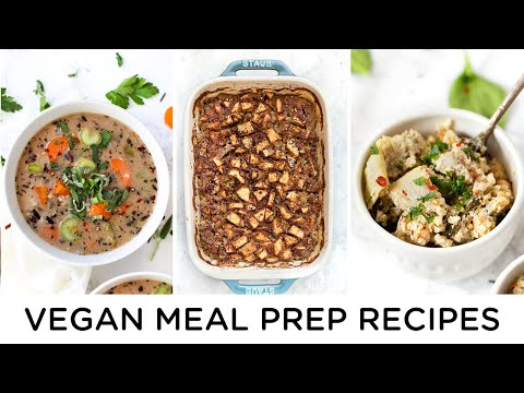 EASY VEGAN MEAL PREP RECIPES ‣‣ gluten-free & healthy too!