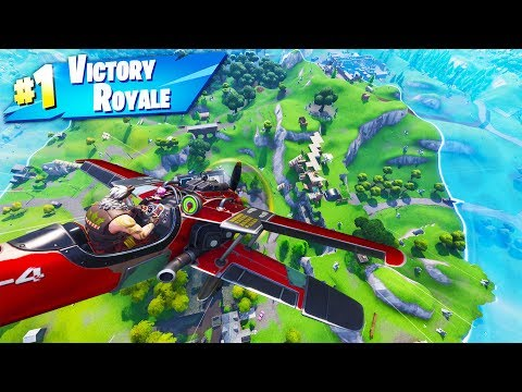 Can You WIN WITHOUT LANDING A PLANE? in Fortnite Battle Royale Season 7 thumbnail