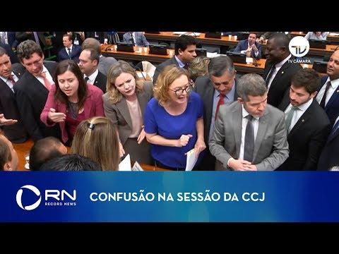 Sessão da CCJ é marcada por confusão
