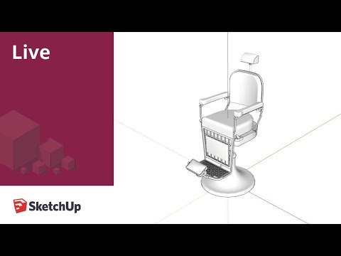 Live Modeling from the Barbershop with SketchUp
