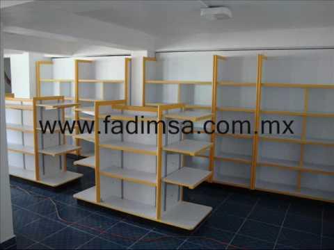 anaqueles estantes repisas mostradores vitrinas para farmacias y papeleras muebles tipo oxxo
