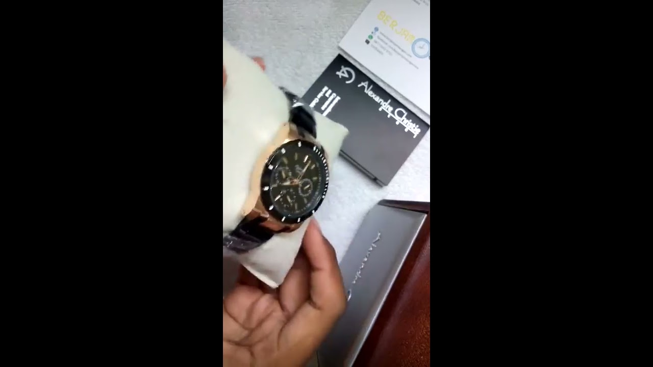 Alexandre Christie Ladies Watch Ac 6141 Black Rosegold Youtube Expedition E6392 Full