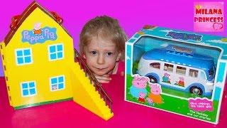 Игровой набор Свинка Пеппа на Отдыхе с Автобусом. Toys set Peppa Pig on vacation with bus