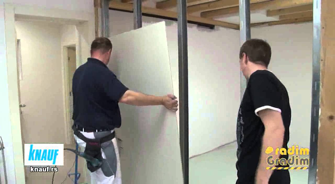 knauf izrada pregradnog zida gkp doovi. Black Bedroom Furniture Sets. Home Design Ideas