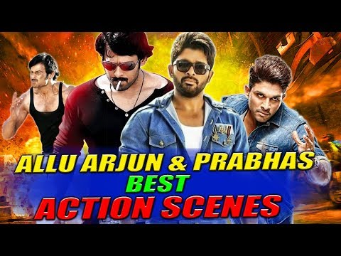 Allu Arjun & Prabhas Best Action Scenes | South Indian Hindi Dubbed Best Action Scenes full movie | watch online
