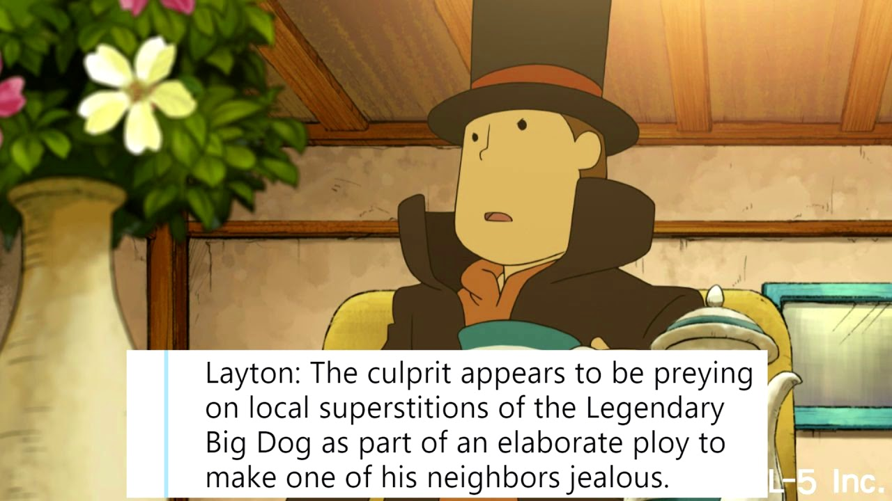 Professor Layton and the Big Dog