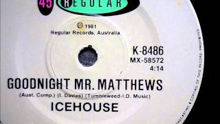 Icehouse - Goodnight Mr. Matthews (B-side to Love in Motion) - 1981