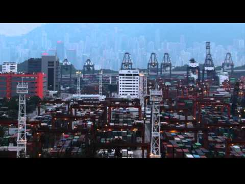 Kwai Chung Cargo Terminal Time Lapse