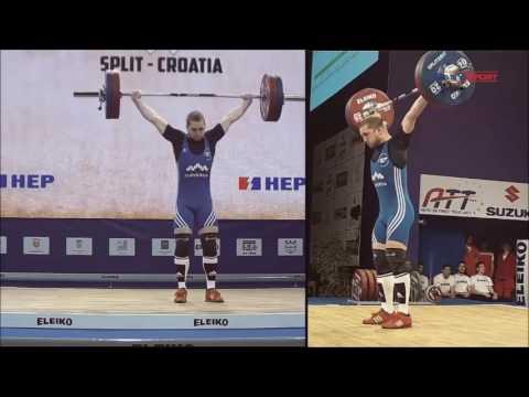 2017 European Weightlifting 77 kg Group B