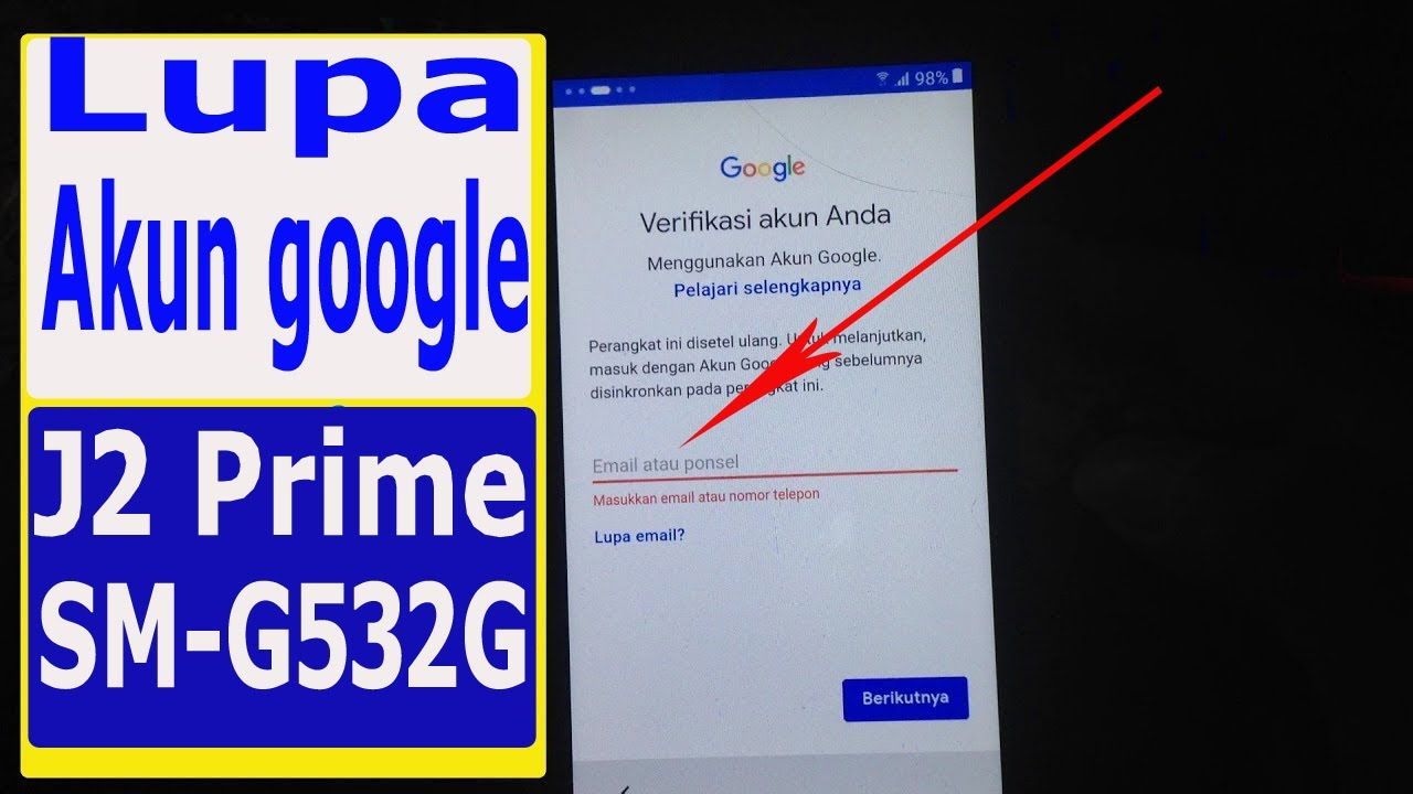 Solusi Verifikasi Akun Gmail Samsung J2 Prime Sm G532g Sm G532g Ds