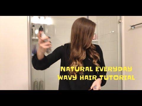 EVERYDAY 5 MIN WAVY/CURLY HAIR TUTORIAL (EASY) | Tia Lynn