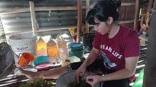 Aktivitas Di Pondok Ladang Kami Suku Dayak(Gadis Dayak) Part 2