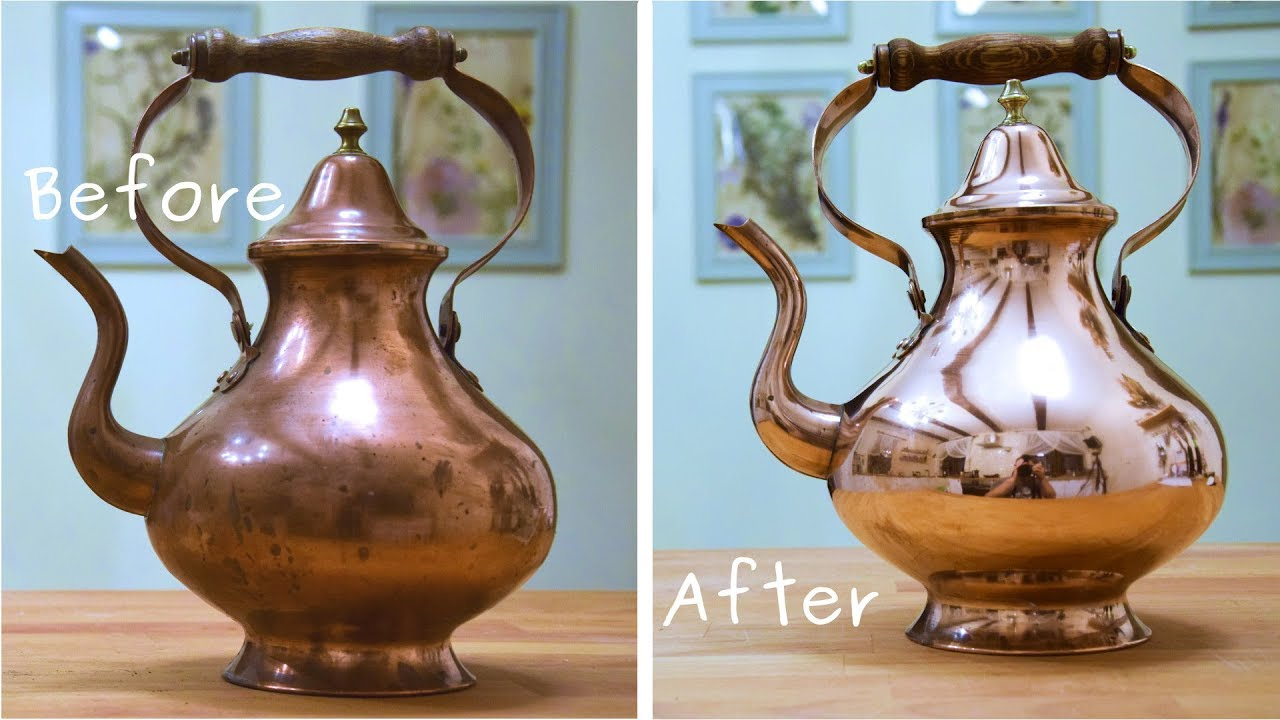 Copper Teapot Restoration Satysfying To Watch Old Thing Rescue