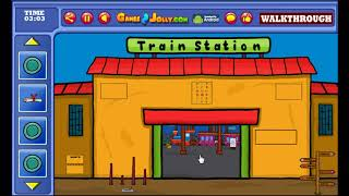 Girl Rescue From Train Station Walkthrough - Games2jolly