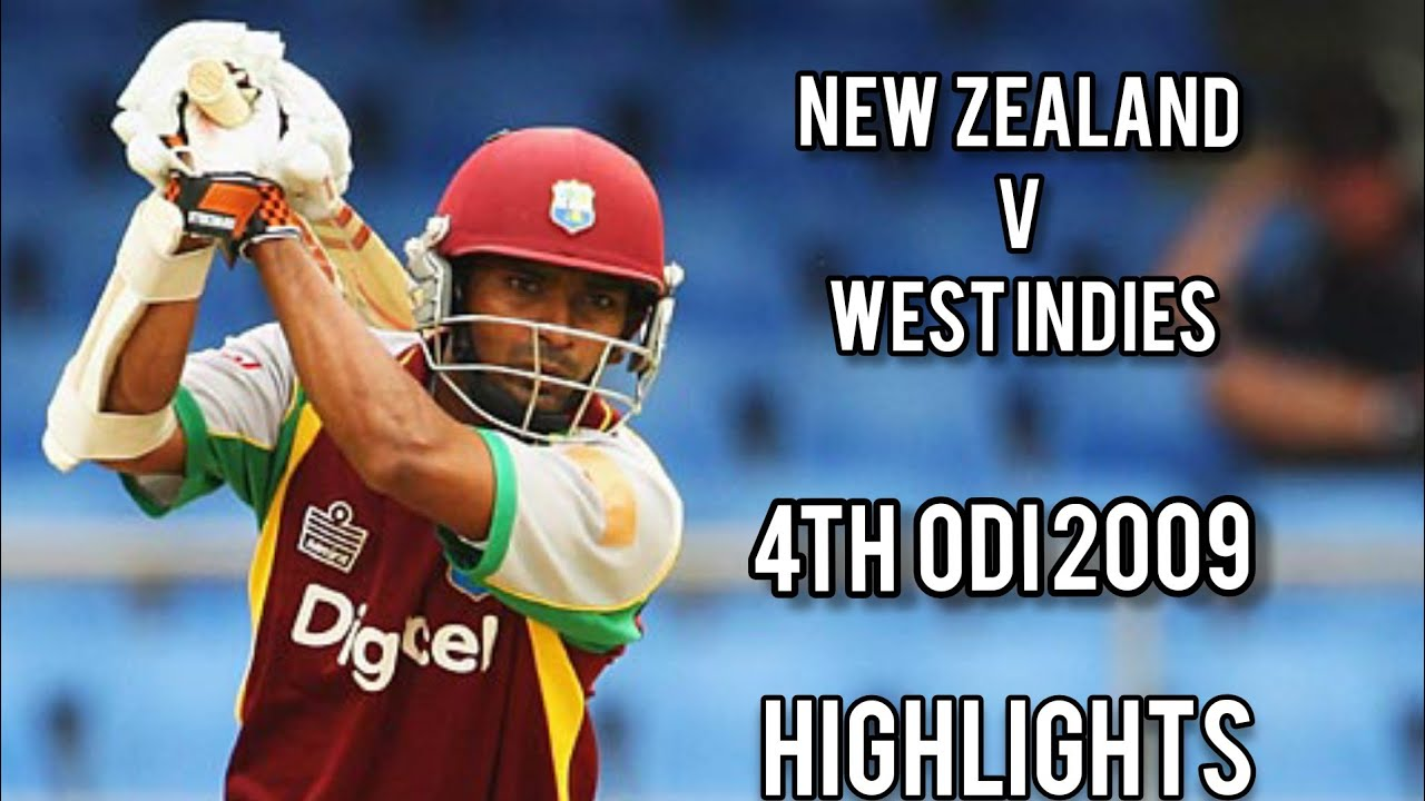 New Zealand V West Indies | 4th ODI 2009 | Full Highlights