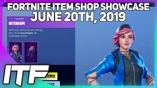 Fortnite Item Shop 'NEW' NITEBEAM ET FLARE SKIN SETS! [20 juin 2019] (Fortnite Battle Royale)