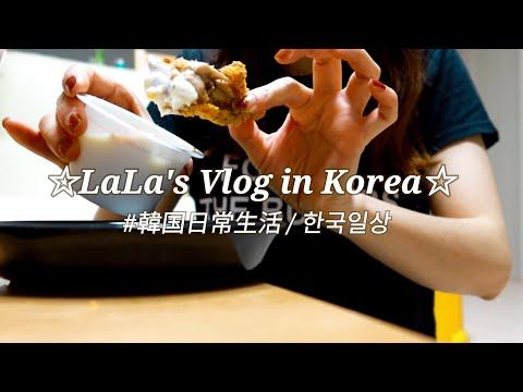 【在韓歴14年目日本人主婦Vlog】ネイルシールでテンション上げる日 /穴場な遊園地で遊んでカルグクスを堪能する日 / BHCチキン☆#091