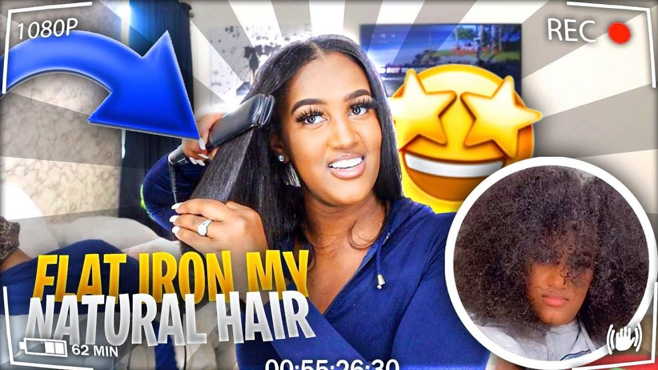 STRAIGHTENING MY NATURAL HAIR FOR THE FIRST TIME IN 2 YEARS!!😱