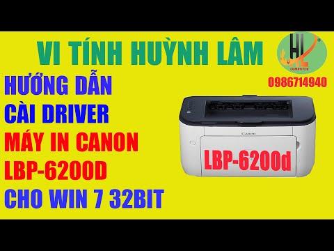 HƯỚNG  DẪN  CÀI ĐẶT DRIVER MÁY IN CANON 6200d CHO WINDOWS 7 32BIT