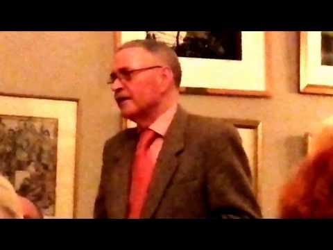 Frank McDonald after dinner speech @ The United Arts Club, Dublin 3rd February 2017.