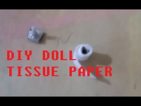 diy doll tissue paper plus a tissue paper stand