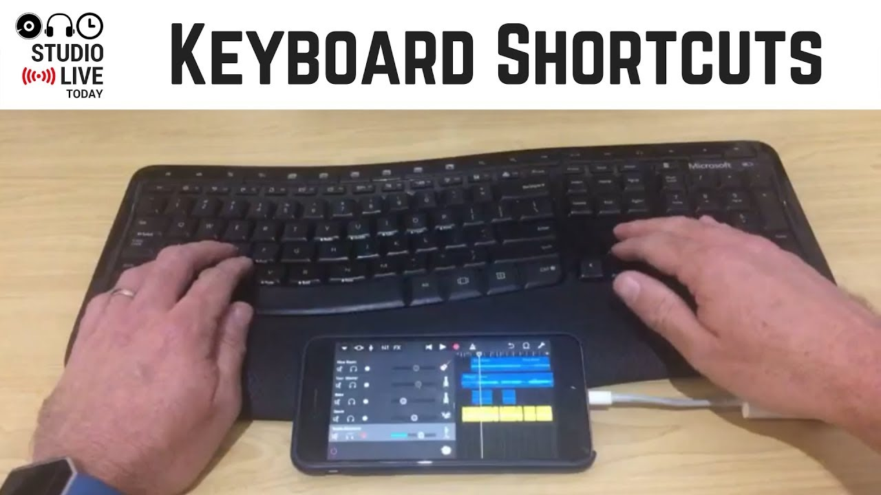 Keyboard Shortcuts In Garageband Ios Iphone Ipad Youtube