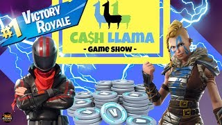 Cash Llama NEW Game Show Fortnite Battle Royale - Come play while CUBE MOVES to win V-Bucks!!!