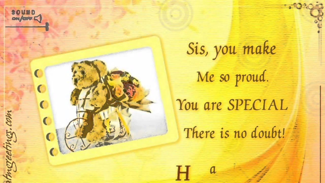 Happy birthday sister wishes ecards message greetings card youtube premium m4hsunfo