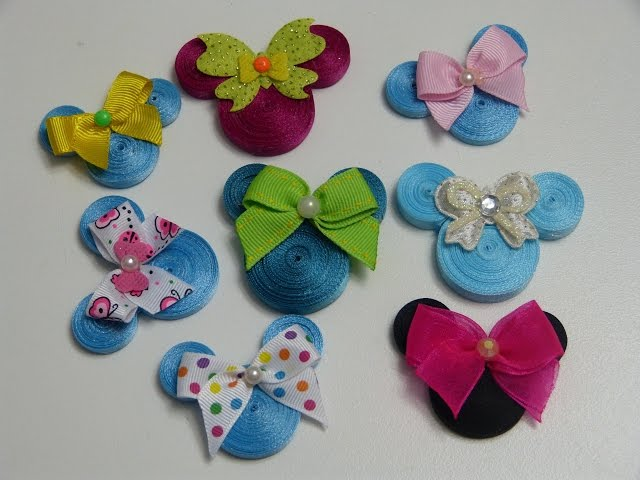 Diy como elaborar siluetas de Minnie Mouse para lazos,Minnie Mouse Mo