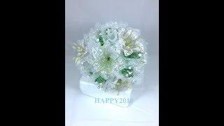 Нереально красивый Свадебный букет из бисера своими руками Бисероплетение, Цветы из бисера, Beadwork