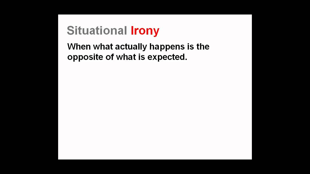 What Is Irony Three Types Of Irony Lesson Youtube