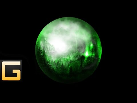 landscape in glass ball-speed painting (#photoshop)