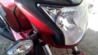 Cambio de focos y alineacion (acomodo) del faro en  Honda CB invicta 150