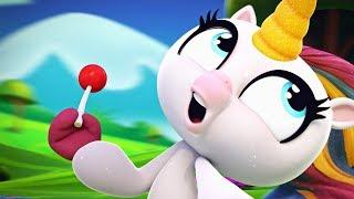 Fingerlings Tales   Gigi The Unicorn Won't Stop Eating Candy   Kids Cartoons