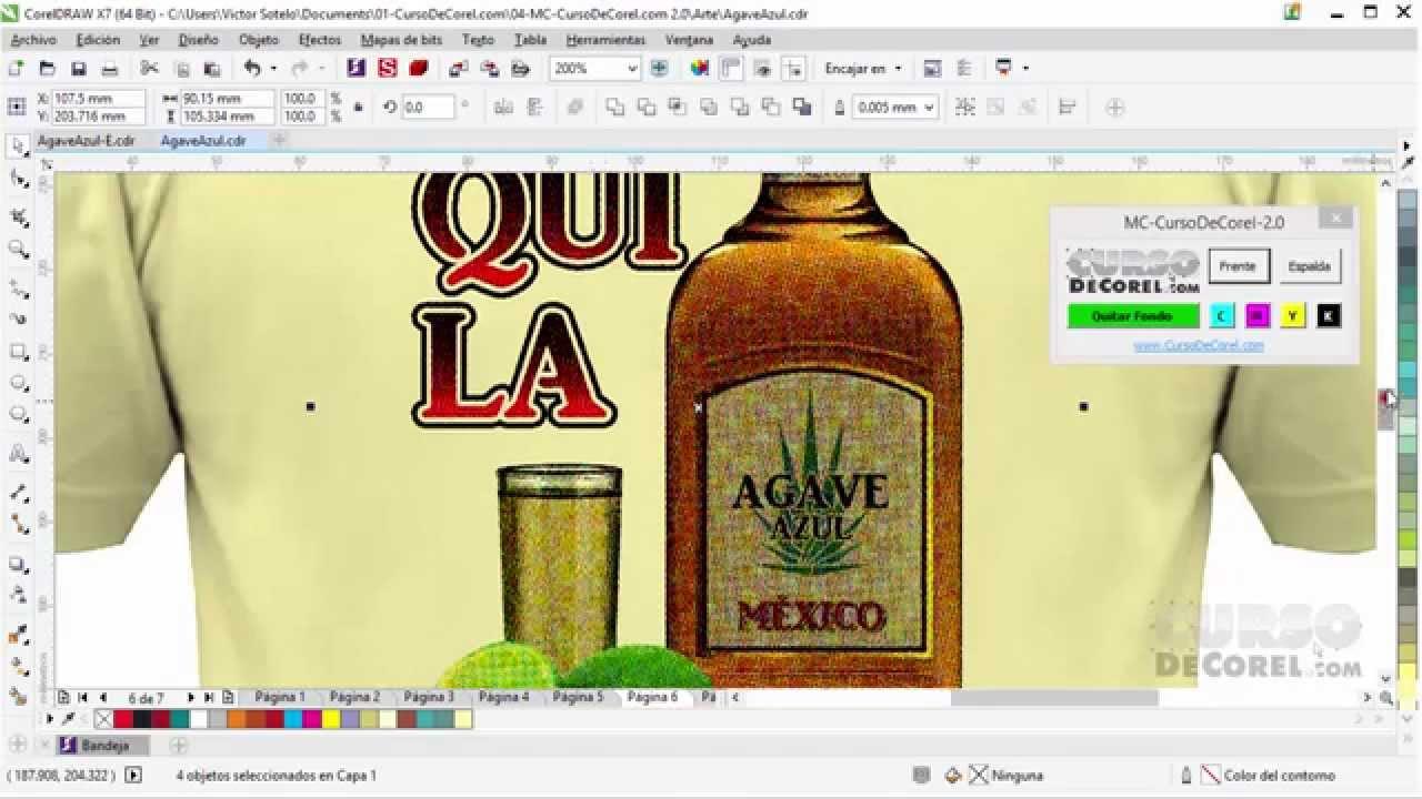 06ef993d82a27 Como Hacer Camisetas a Todo Color en Corel Draw X7 - YouTube