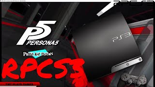 Persona 5 - RPCS3 TEST