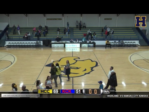 Highland Men's Basketball vs Kansas City Kansas CC
