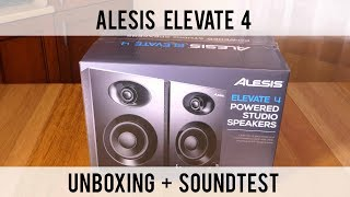 $130 Alesis Elevate 4 Studio Monitors Unboxing + Quick Sound Test