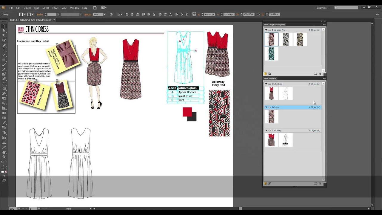 Lectra Fashion PLM integrates with Adobe Illustrator - YouTube