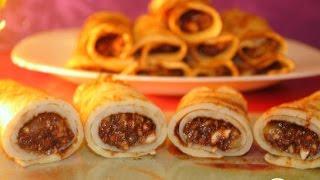 Блины на коньяке с ореховой начинкой  Пошаговый рецепт с фото