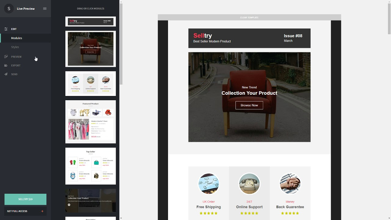 Selltry - eCommerce Responsive Email Template with Stampready ...