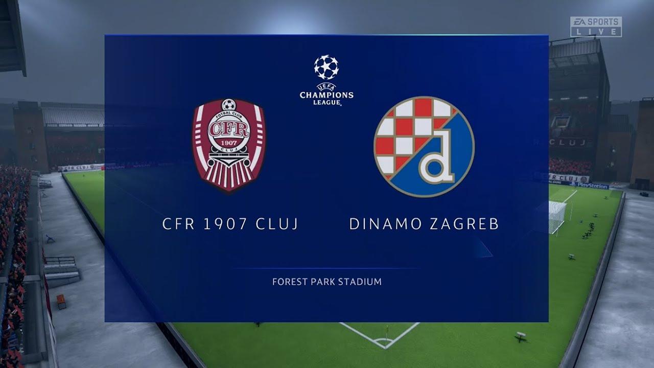 Cfr Cluj Vs Dinamo Zagreb Champions League Qualifiers 26 08 2020 Fifa 20 Youtube