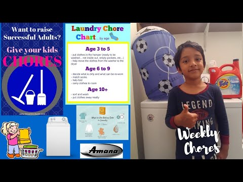Laundary Time | Kids Weekly Chores | Amana Washer Review