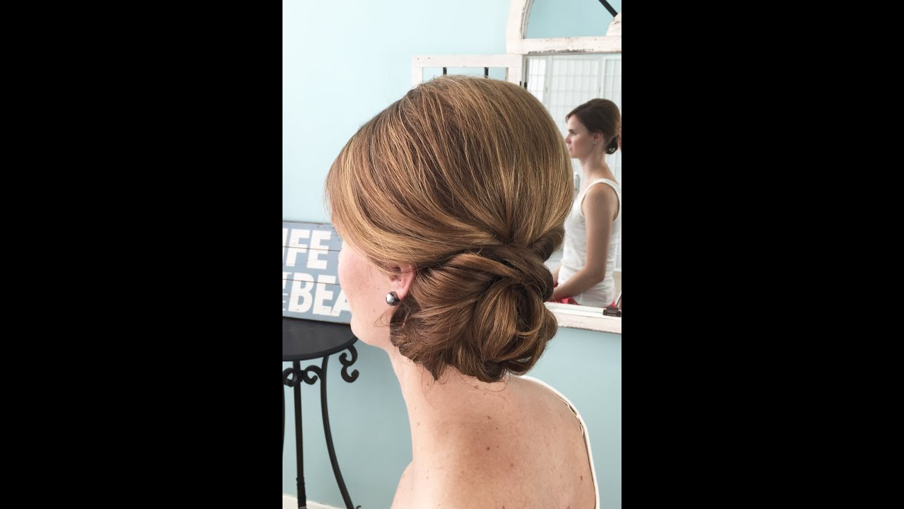 Wedding hair video side do on fine hair