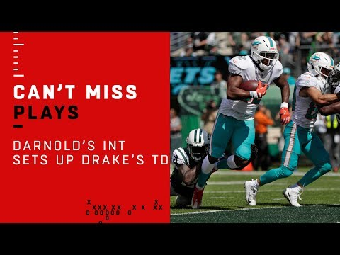 Sam Darnold Tosses Pick & Kenyan Drake Makes Jets Pay w TD!