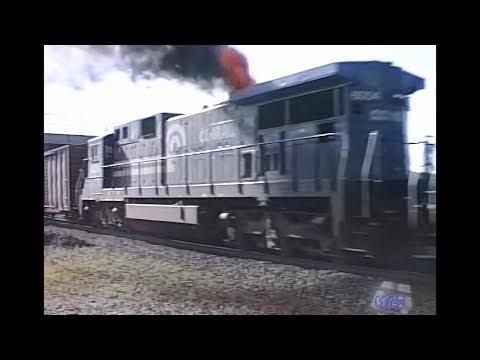 Conrail at Alliance Ohio incl. ore jennies train (SB loads) 1988