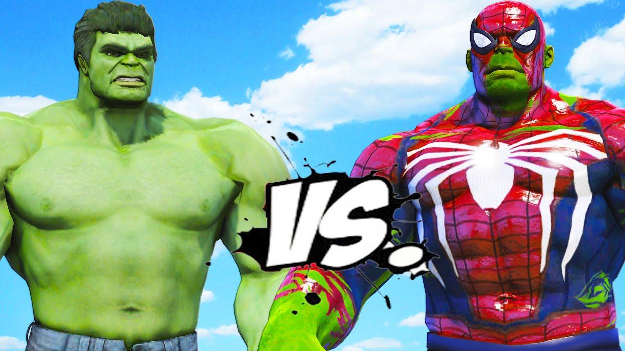 THE HULK VS HULK - SPIDERMAN - YouTube